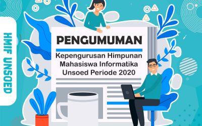 PENGUMUMAN – Kepengurusan HMIF Tahun Periode 2020
